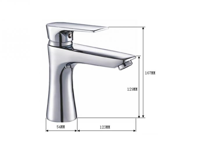 Single Handle Basin Mixer Home Depot Faucets Ceramic Cartridge Polished Zinc Luxury Taps