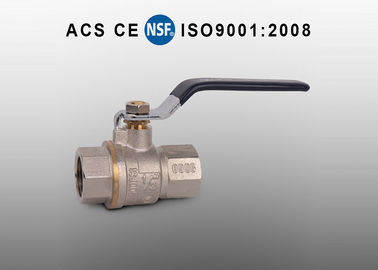 China Manual 3 Piece Brass Ball Valve Full Port Ball Valve Female Thread factory