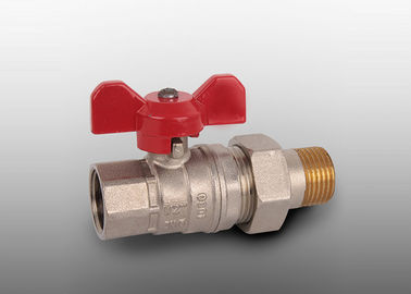 China CE Manual Brass Ball Valve / Water Full Bore Ball Valve PN25 factory
