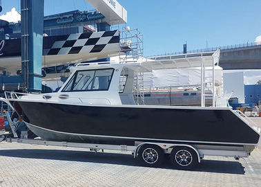9m 30ft Aluminum Fishing Boats Inshore Cruiser With Enclosed Hardtop Plate Hull Structure